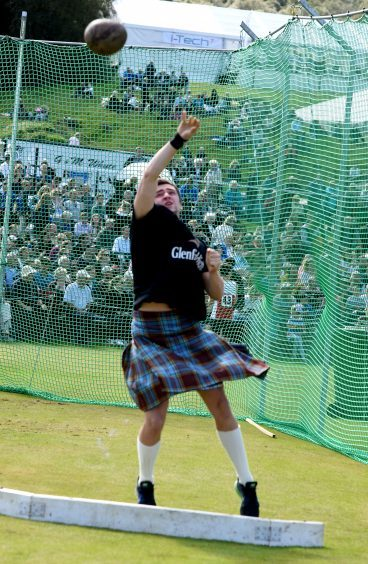 George Evans, Inverness, competing