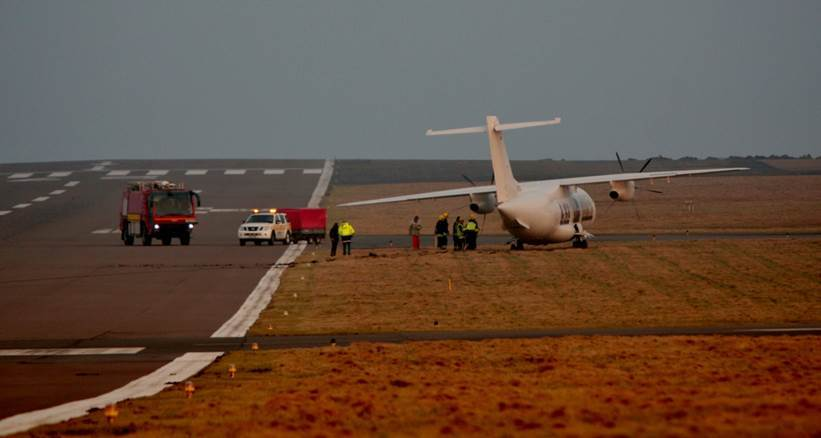 The plane at Sumburgh Airport
