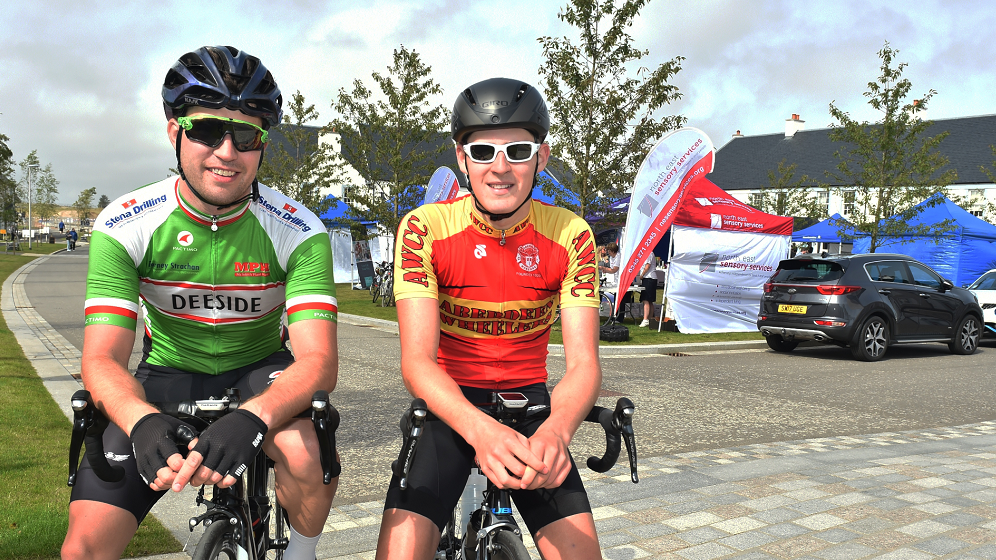 The Chapelton Bike Ride was held at Capelton, near Newtonhill. The first in for the 42 mile event was Stuart Gray (left) and Lee Rosie.