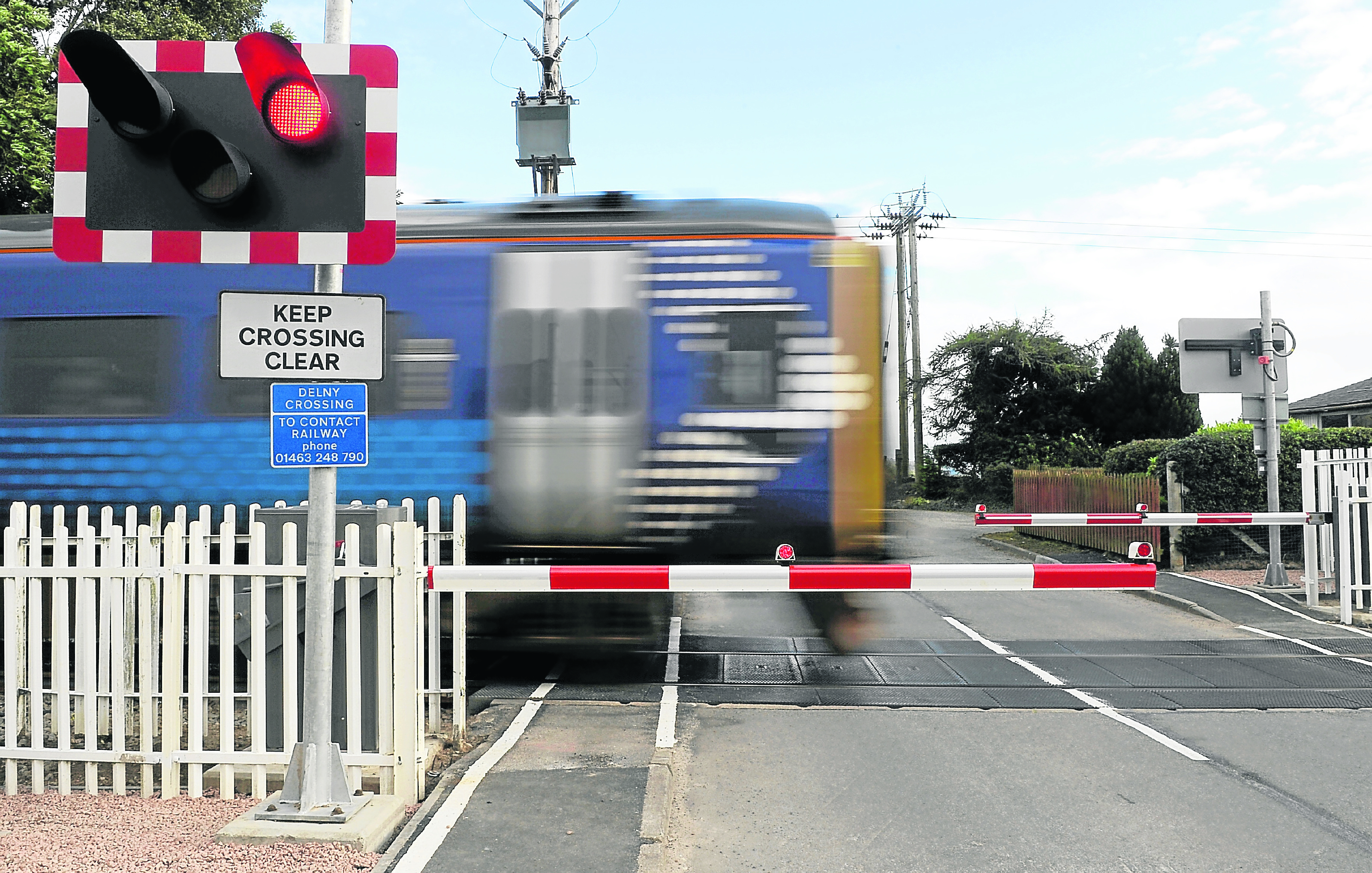 The Delny level crossing on the Inverness to Wick line in Easter Ross.