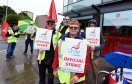 Workers of Langstane Housing association on the picket line in Aberdeen