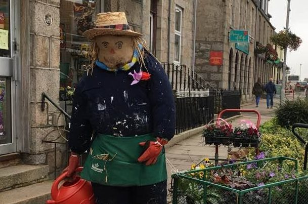 One of the scarecrows outside Watson's in Inverurie. Pics by Kami Thomson.