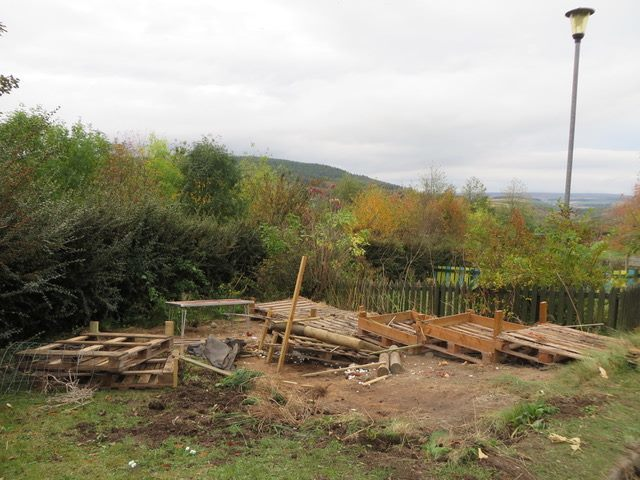 The site where the poly-tunnel at Inveravon Primary School used to be.