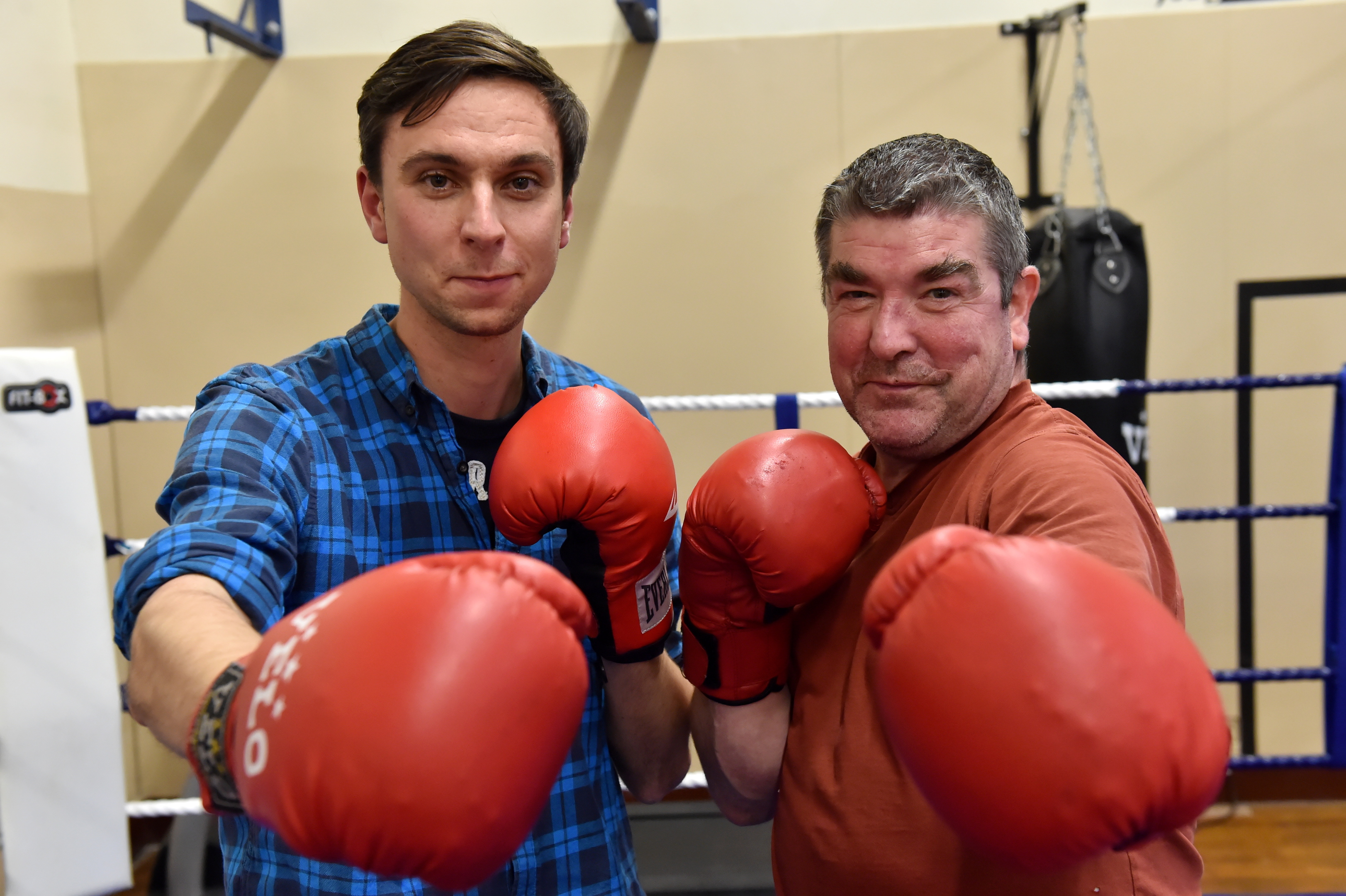 Picture of (L-R) Finlay Colville (Substance Use Worker) and Jim Maitland.  Picture by Kenny Elrick