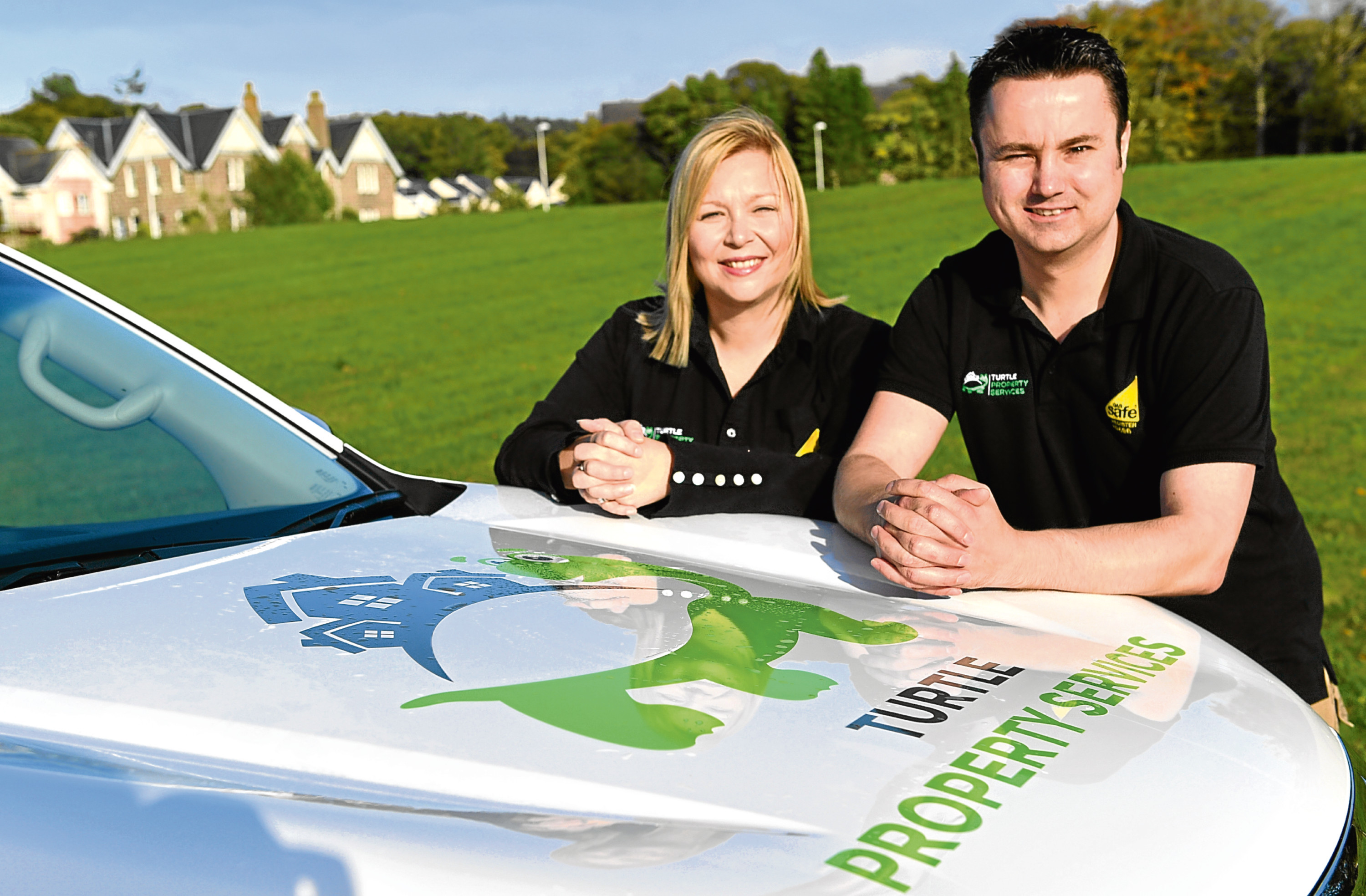 Andrew and Sarah Urquhart of Turtle Property Services. Picture by Kami Thomson.