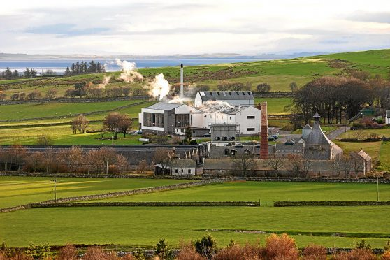 The Clynelish Distillery in Sutherland.