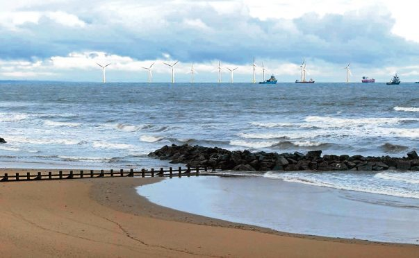 Artist's impression of the scale of the wind farm