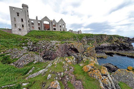 Slains castle near Cruden Bay.