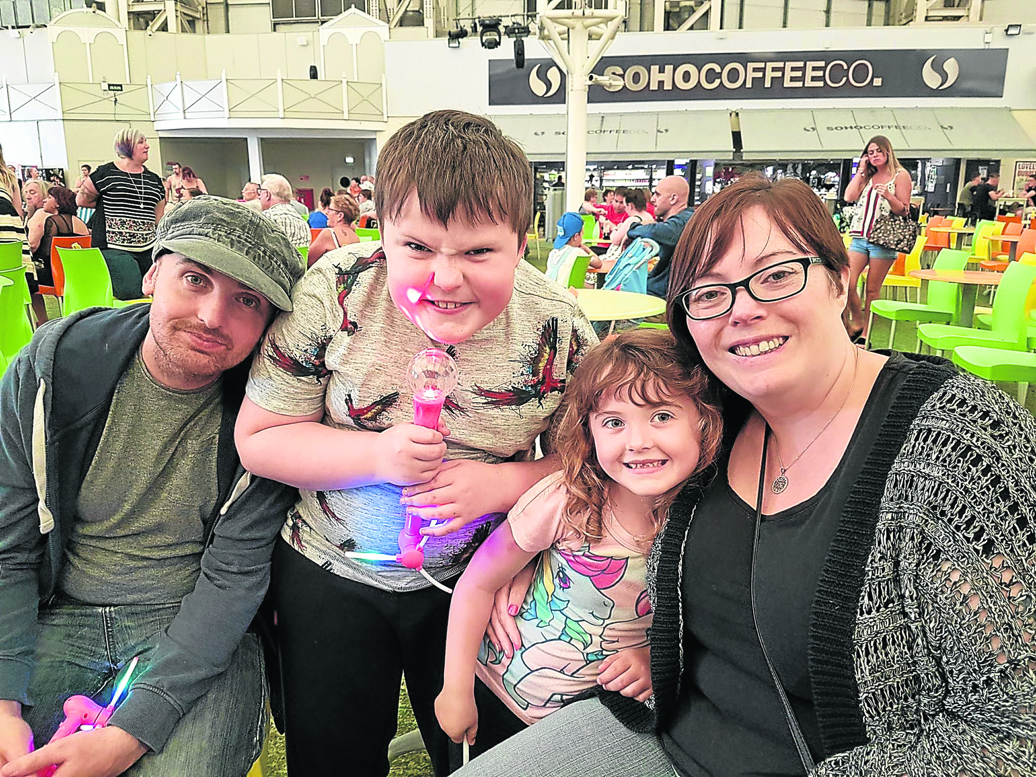 Danny, Alfie, Paige and Louise Henderson