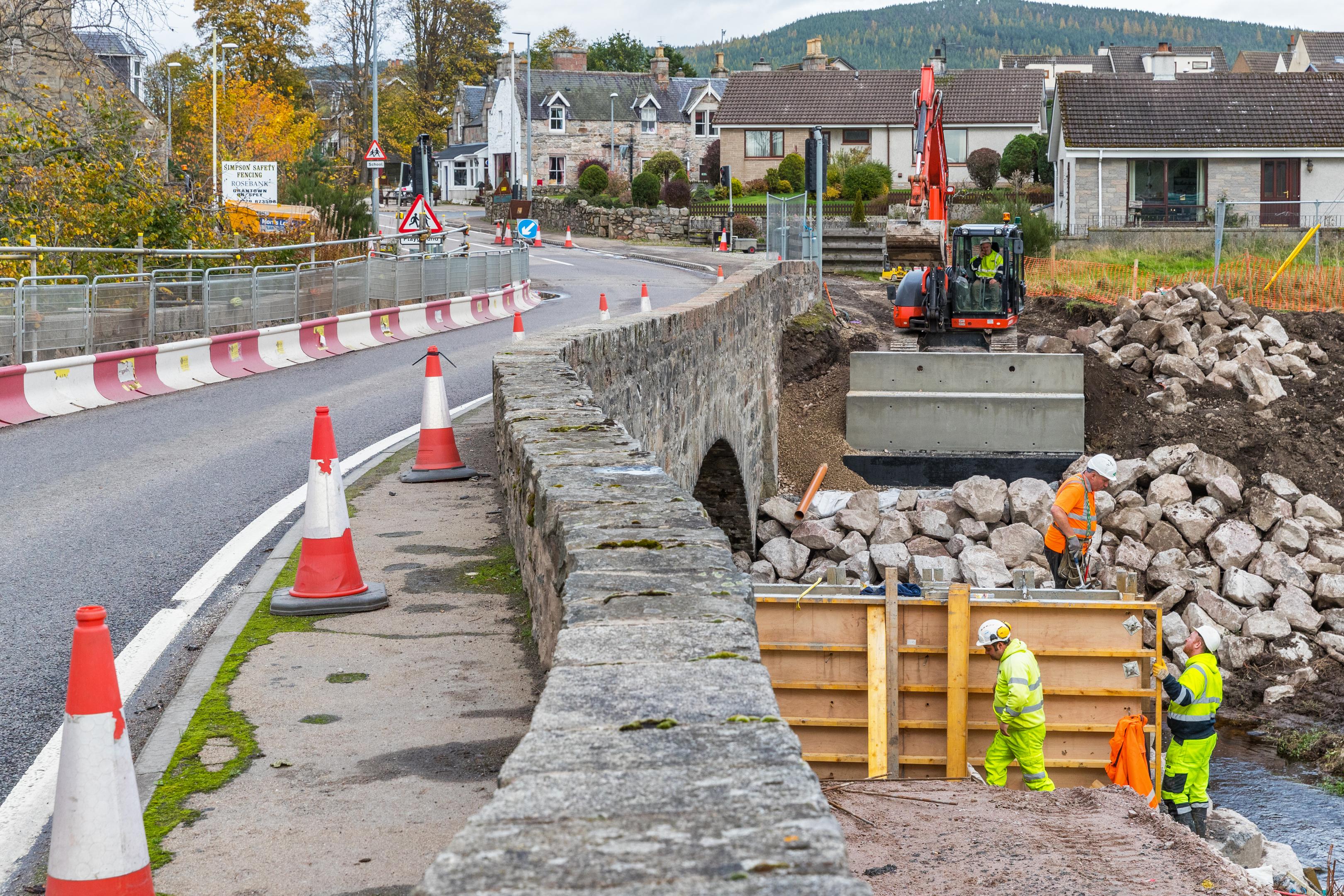 Cromdale Footbridge replacement work at the Burn of Cromdale.