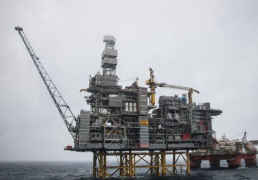 Mariner platform with the Safe Boreas. Photo credit: Jamie Baikie/Statoil