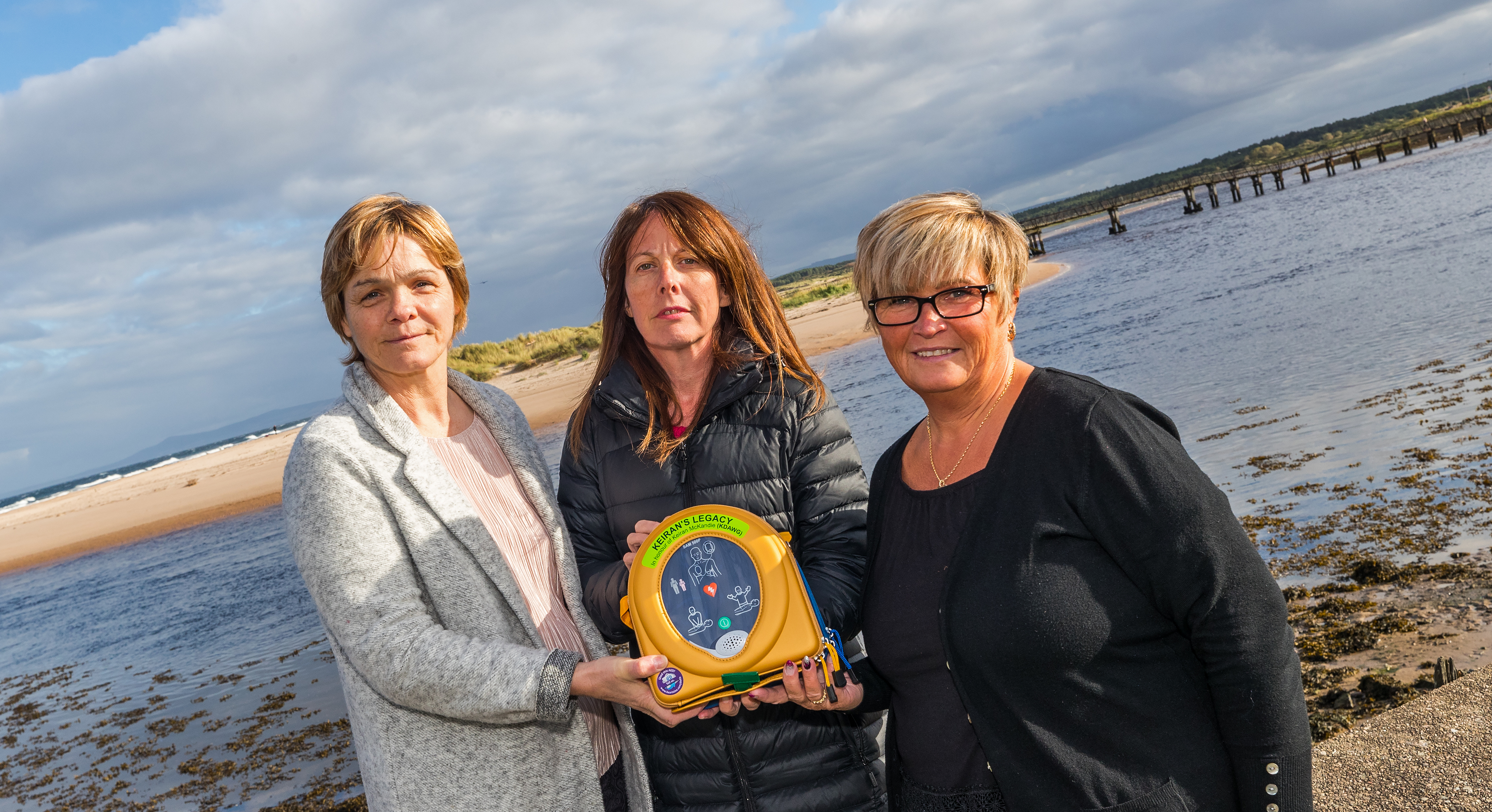 l-R Yvonne Murray, Sandra McKandie - Keiran Legacy and Mo Garden of Lossiemouth Community Council