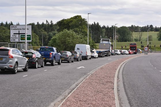 The closure of Dyce Drive has caused significant traffic congestion