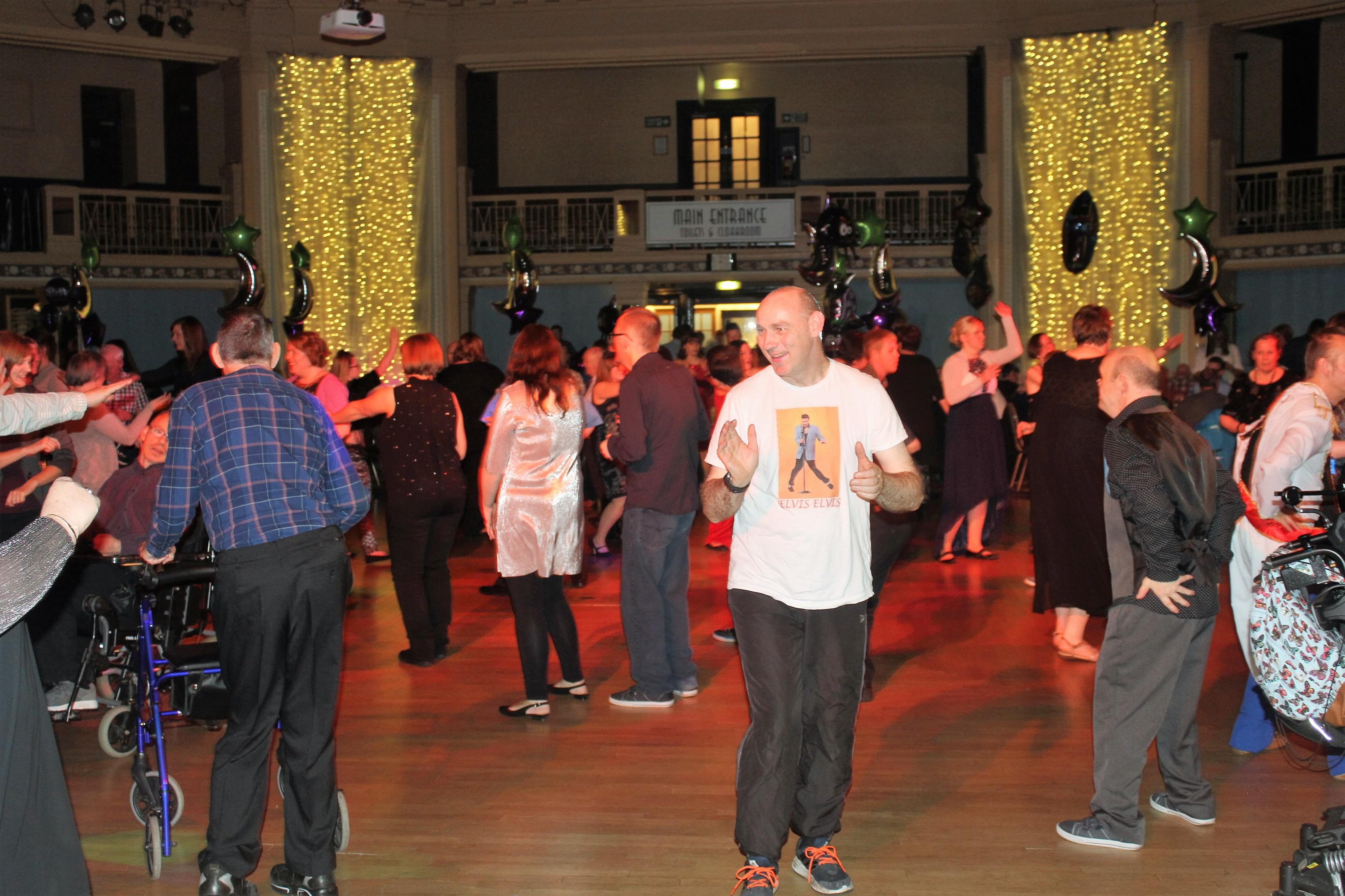 Revellers enjoying last year's Sparkles Ball, in the Beach Ballroom.