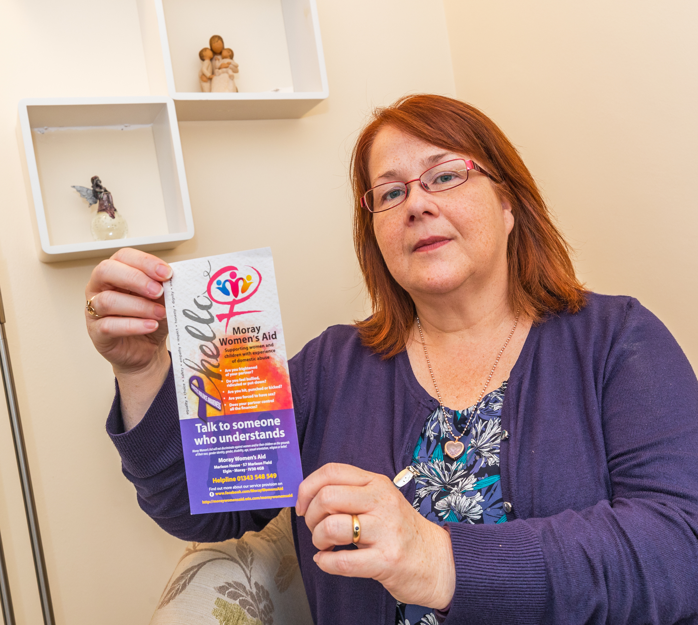 Melanie Wood, support worker for Moray Women's Aid.