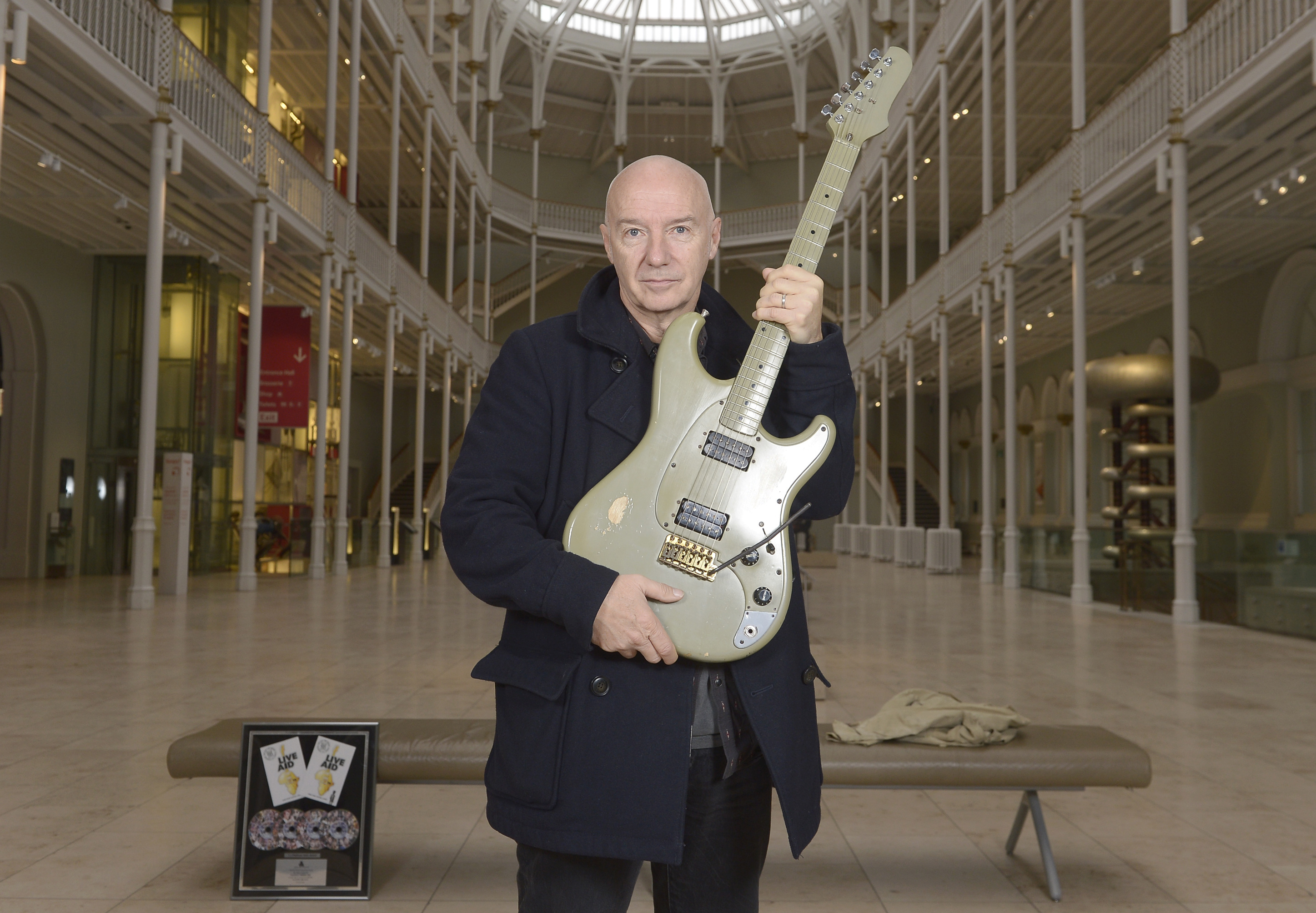 Midge Ure has provided items for the exhibition. Picture: Neil Hanna Photography.
