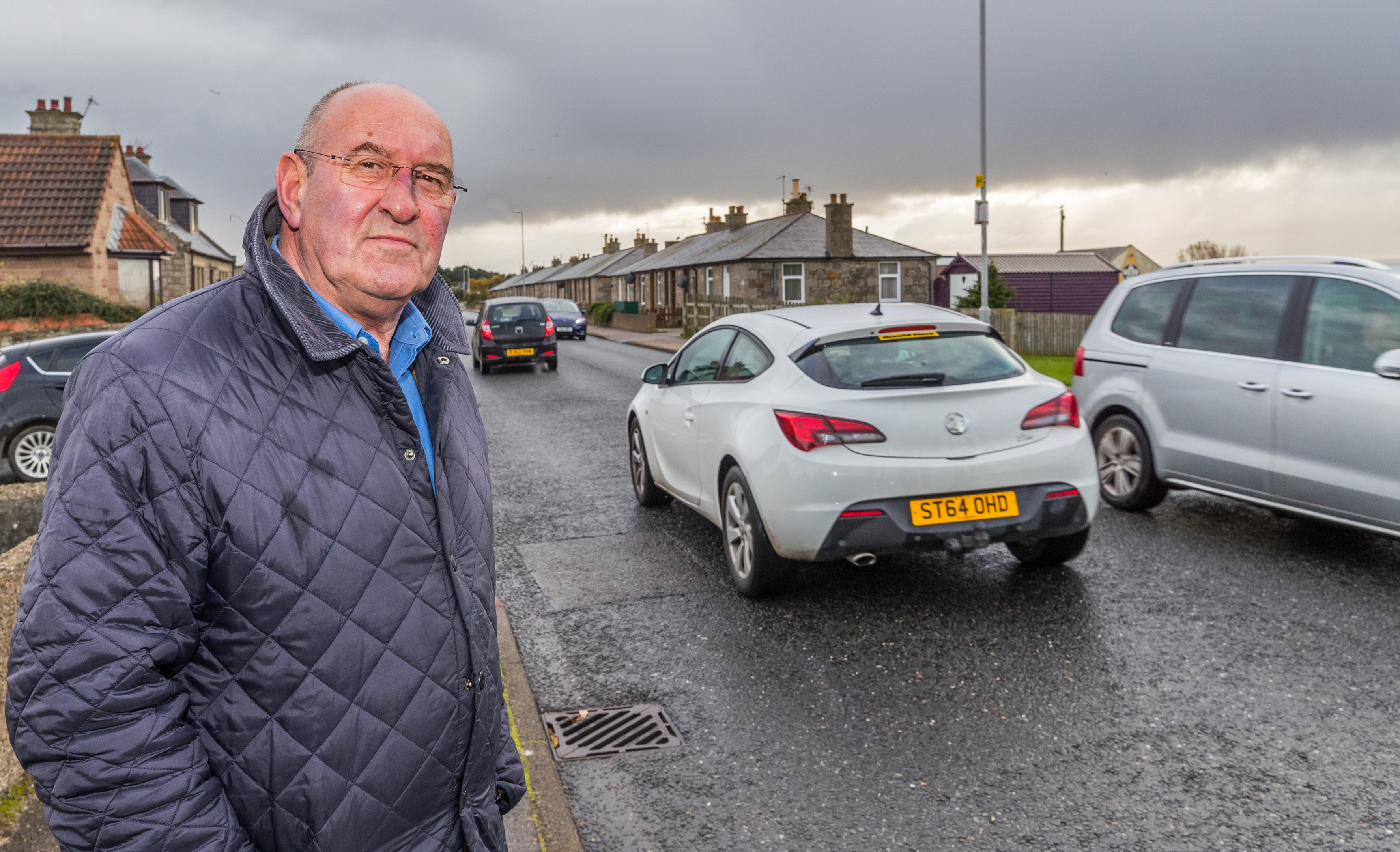 Community councilor Mike Mulholland hopes the new crossing will improve road safety on Lossiemouth's Elgin Road.