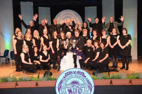 Lochaber Gaelic Choir with theie conductress Rachel Walker. Picture by Sandy McCook