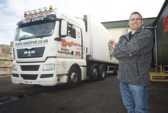 Richard Heaney has returned to work at Speyfruit in Elgin, as an HGV driver following a heart transplant last year.