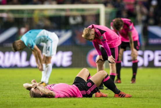 Dejection for Scotland's Leigh Griffiths at full-time