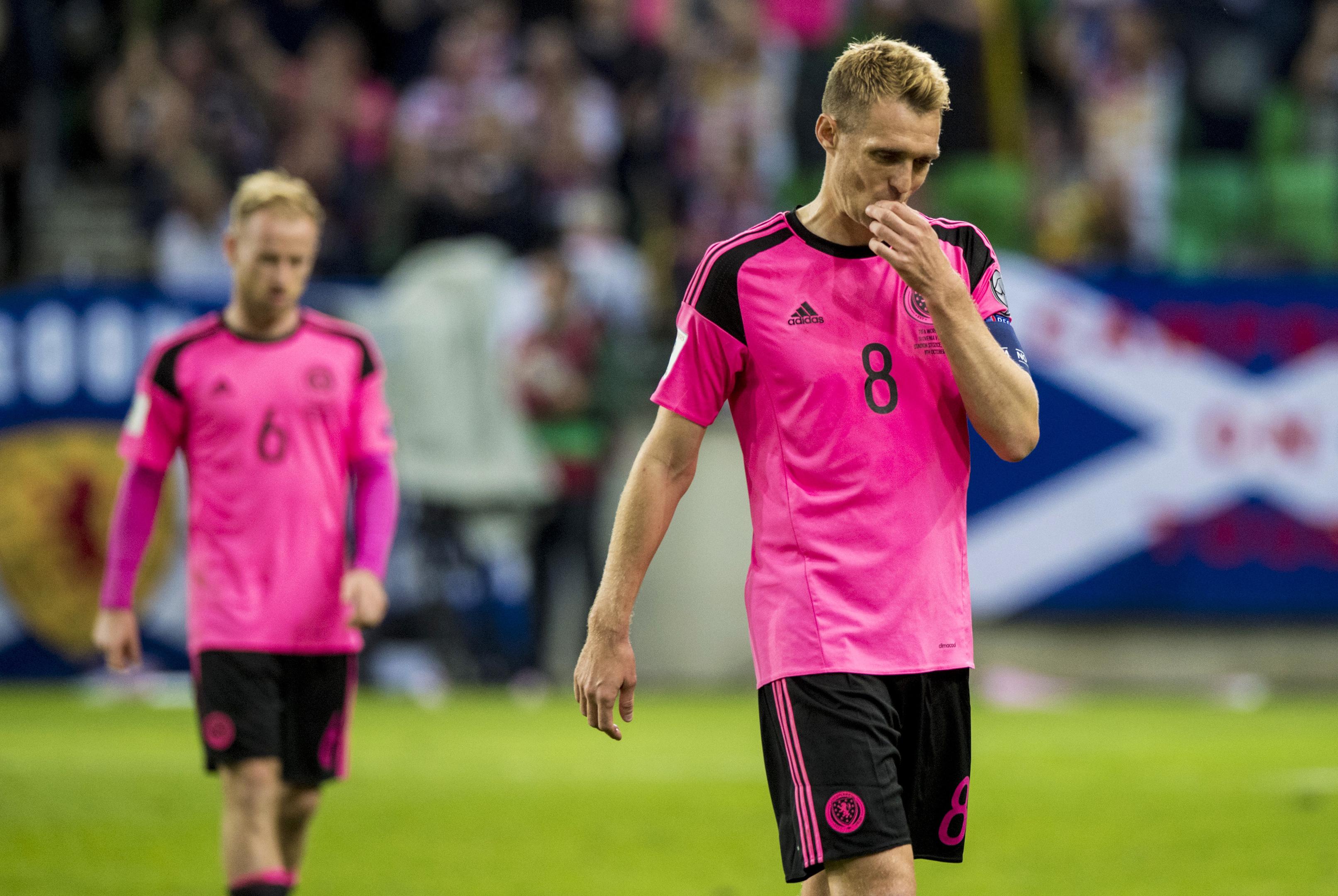Dejection for Scotland captain Darren Fletcher at full-time