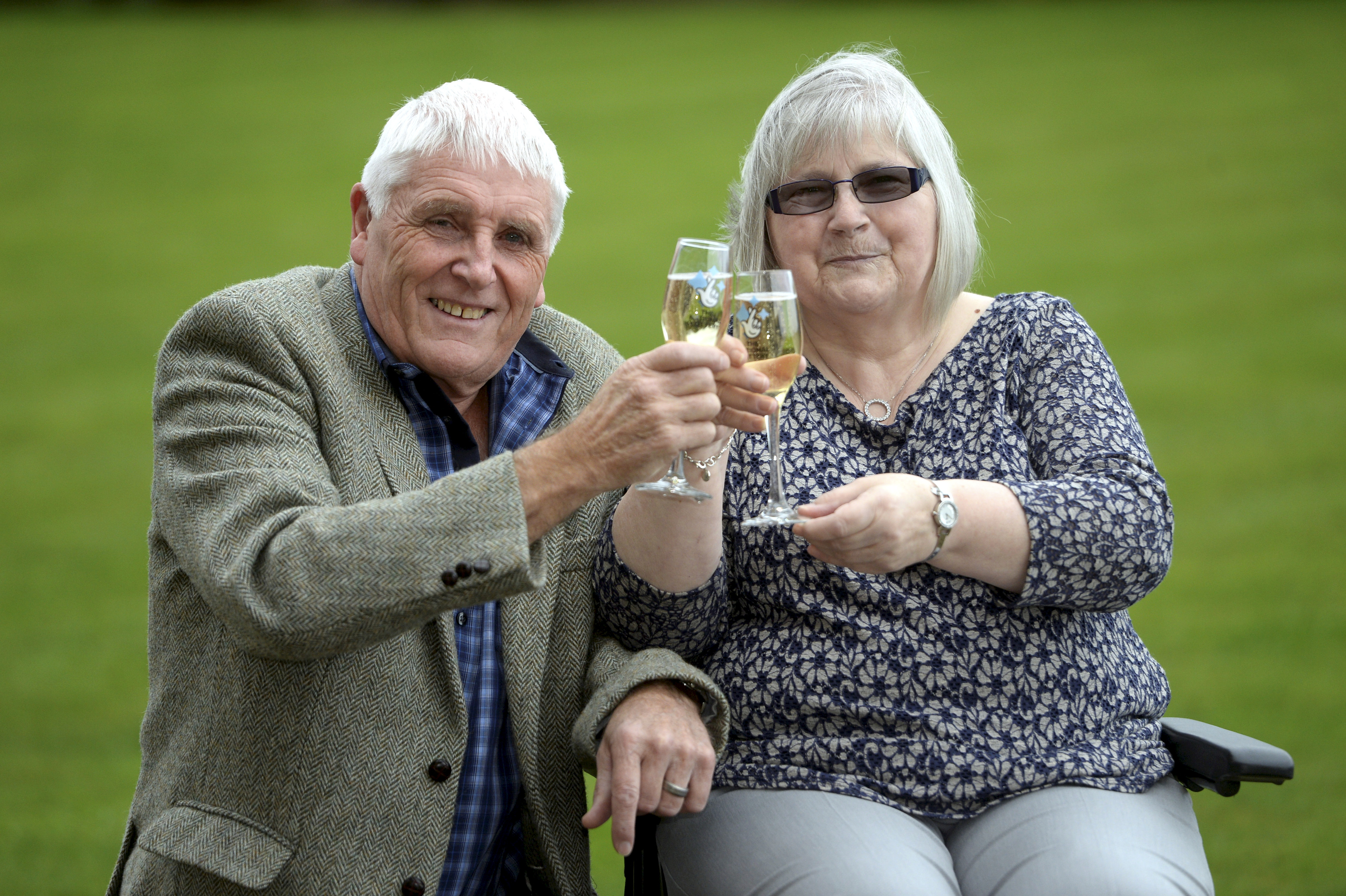 Tommy and Linda Parker have won a massive £5,014,254 on the October 18 2017 Lotto draw.