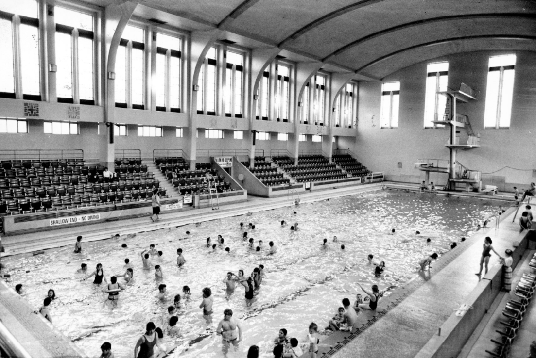 The baths were first opened in 1940