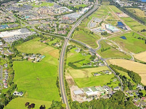 Aerial shot shows where the new link road could go