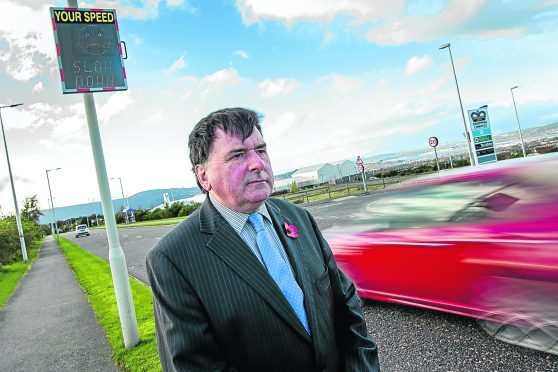 Councillor Ken Gowans is concerned about drivers speeding.