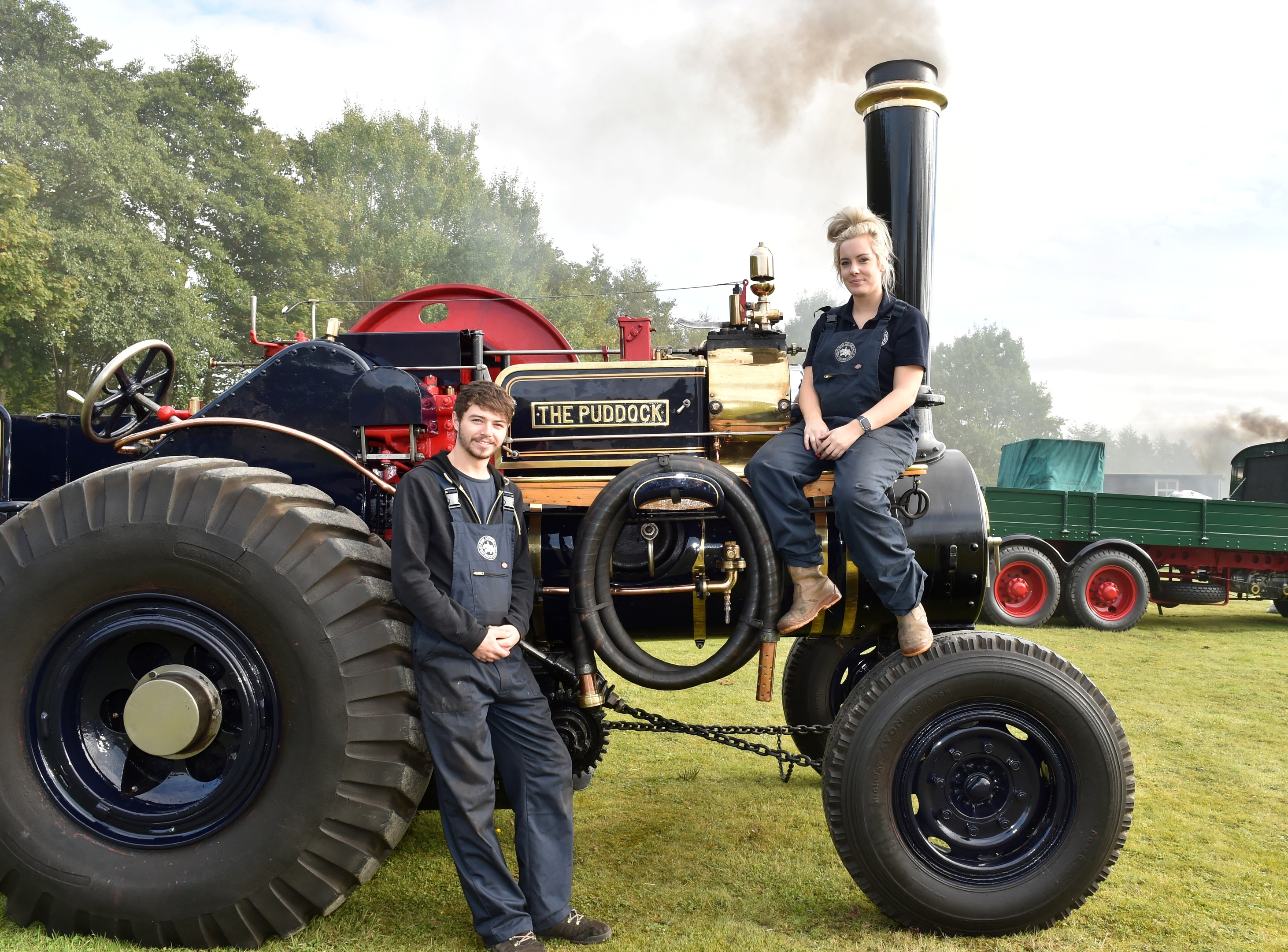 Pictured: Ewan Stevenson and Leanne Barrack with the 1923 Puddock. Picture and video by Colin Rennie.