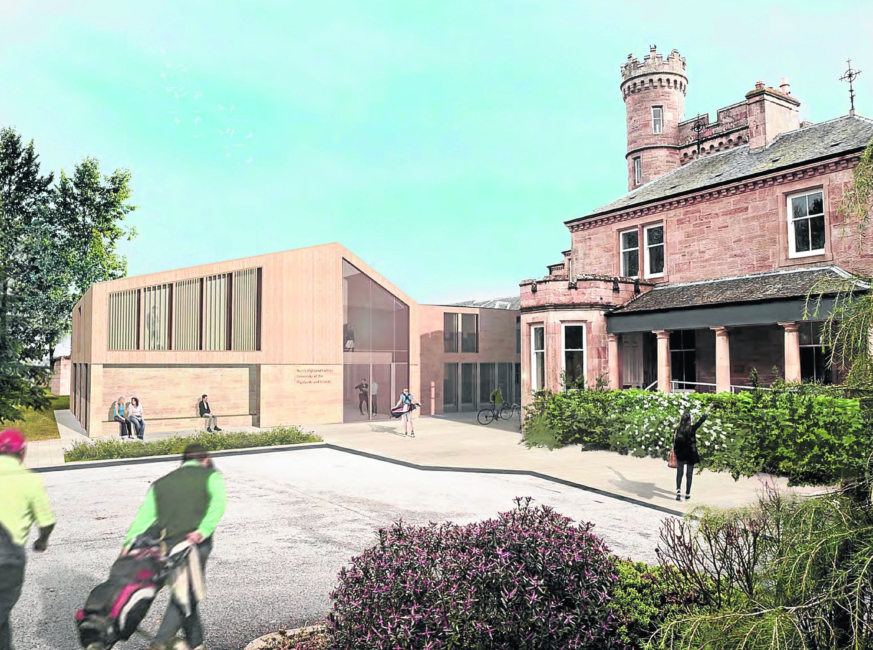 New artist impression of the proposed  North Highland College UHI campus building in Dornoch.