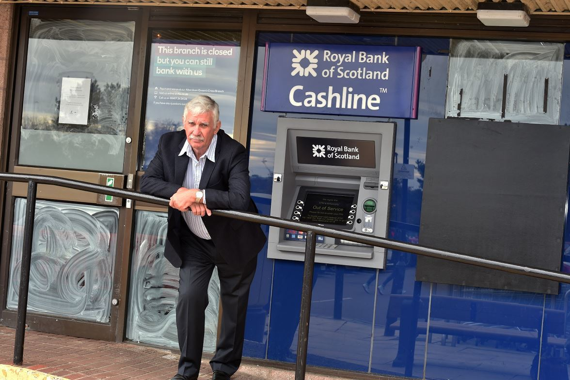 John Mann is angry at RBS for closing its Westhill branch. (Picture: Colin Rennie)