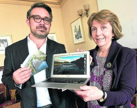 Artist Tristan Surtees with Cllr Isabelle MacKenzie