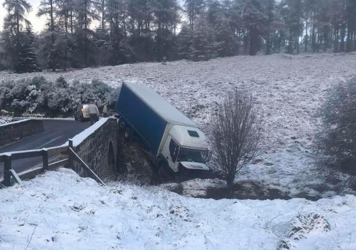 The scene on B974 Cairn O Mount road. Pic from www.facebook.com/CairnOMount/