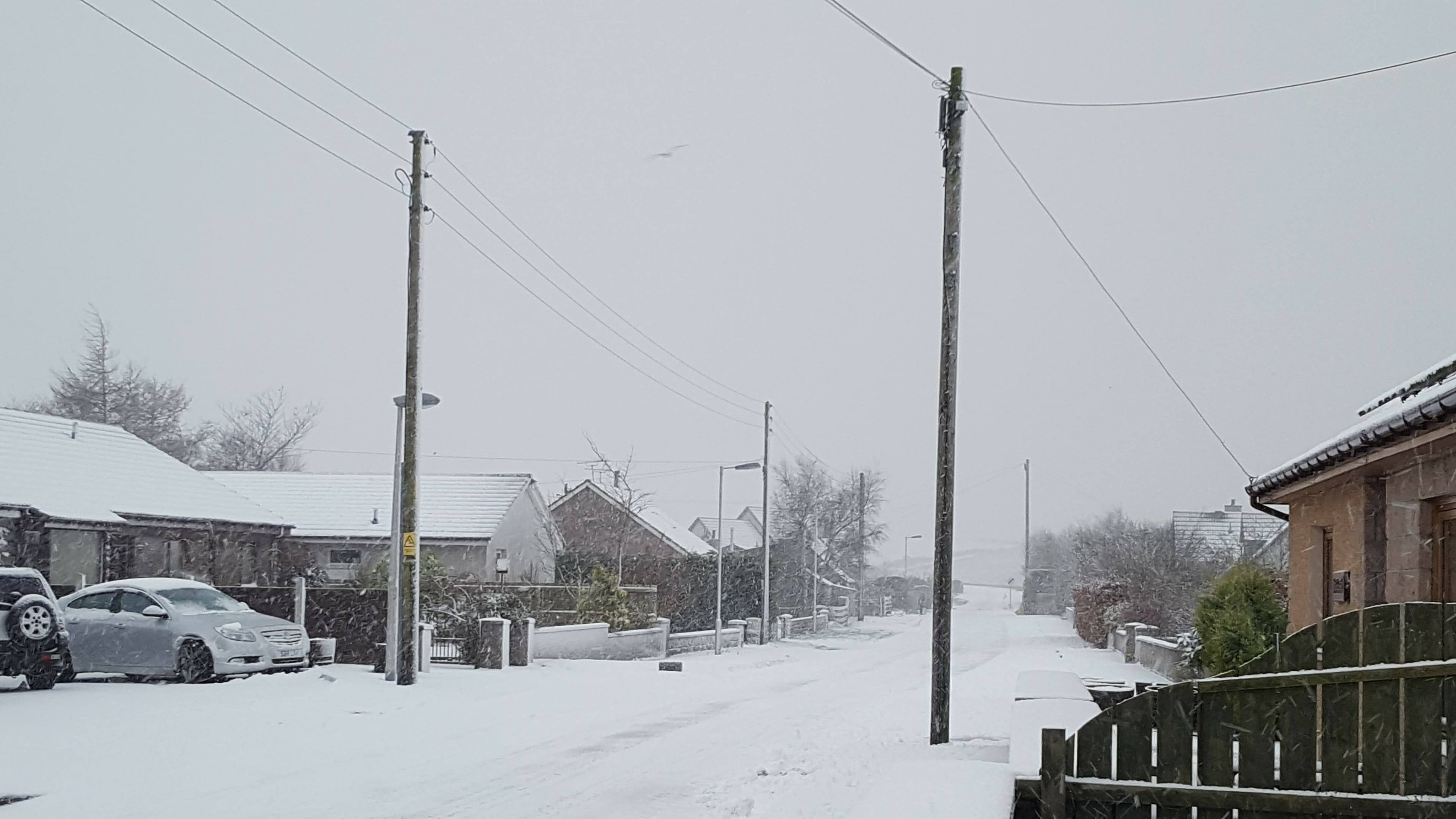 Snowy conditions in St Katherines, near Oldmeldrum