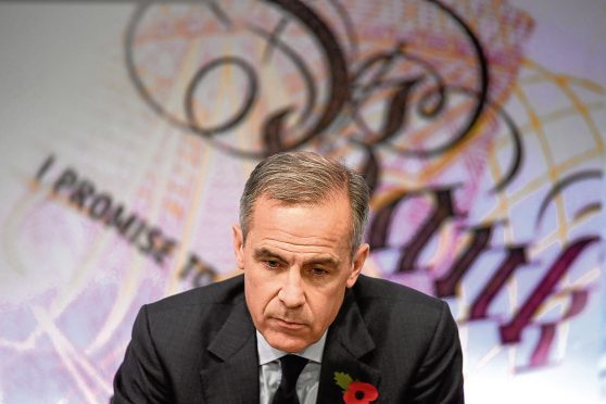 The governor of the Bank of England Mark Carney during the announcement of the Bank of England quarterly Inflation Report and interest rate decision