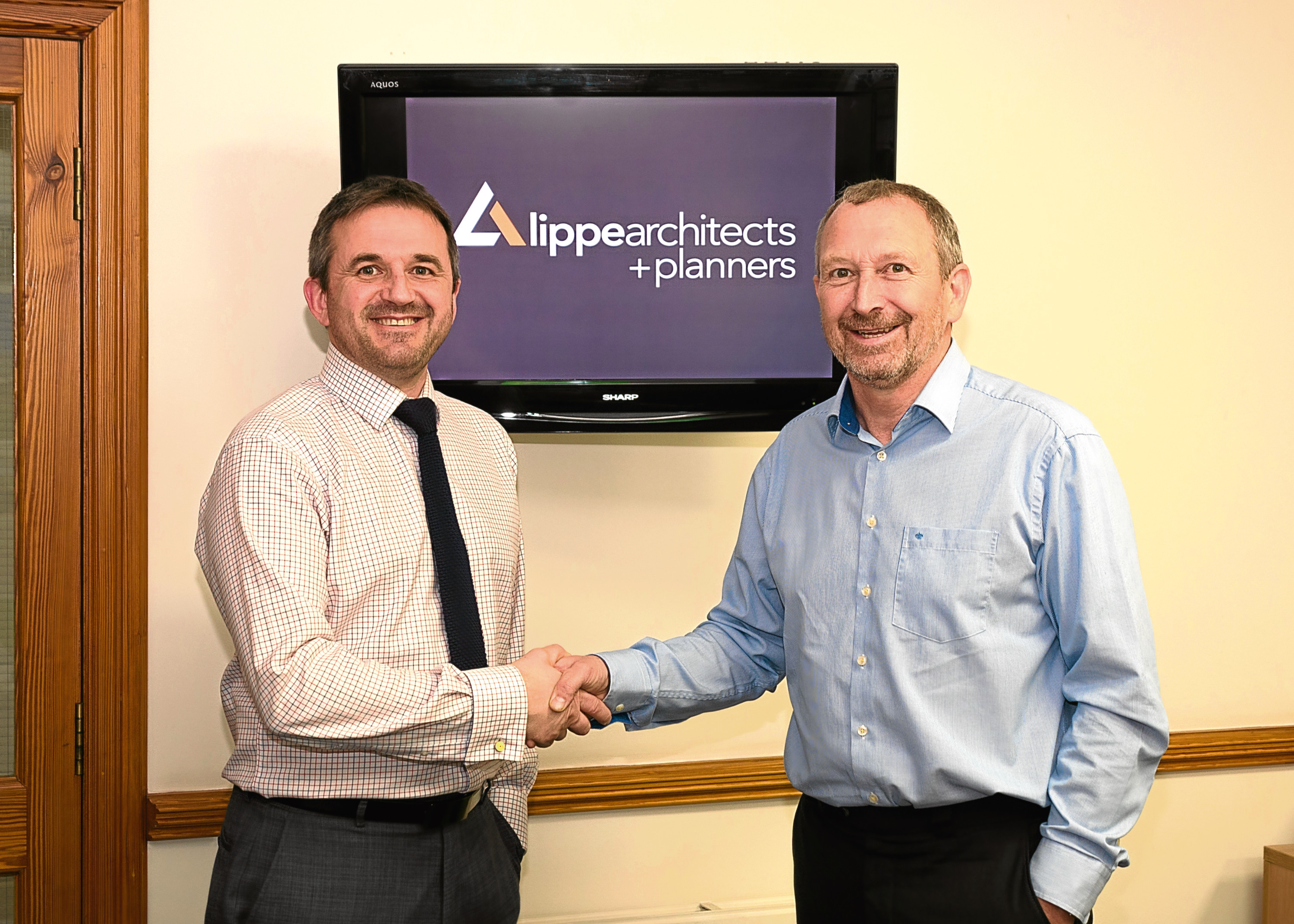 New managing director Stewart Naysmith, left, with William Lippe at Lippe Architects