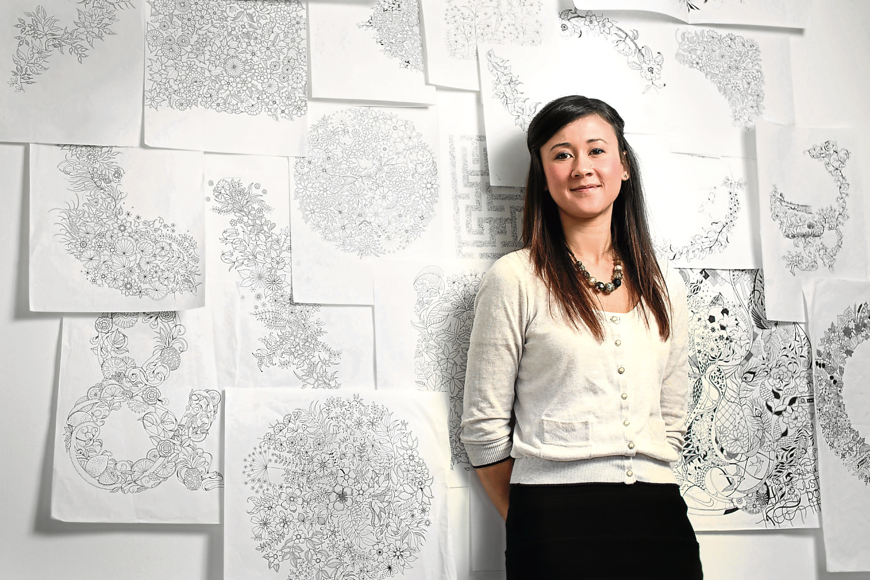 Johanna Basford is the founder of the adult colouring in craze that's been taking the UK by storm over the last year.  While some publishers are reporting sales of 300,000 of their best-selling colouring books, Johanna has blown all other titles out of the water selling over 1 million copies of her debut title Secret Garden in 14 different languages across the globe.  She made headlines back in 2013 when Parisian women went mad for her first colouring book, Secret Garden, meaning that she outsold France's bestselling cookery books, which is incredible. 5 March 2015