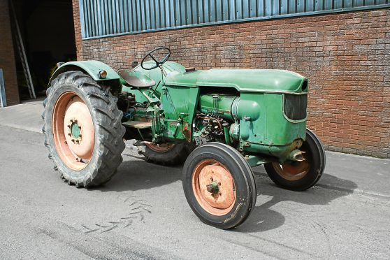 A Deutz D50 tractor from before the time they were available in the UK fitted with the air cooled engines Deutz became famous for.