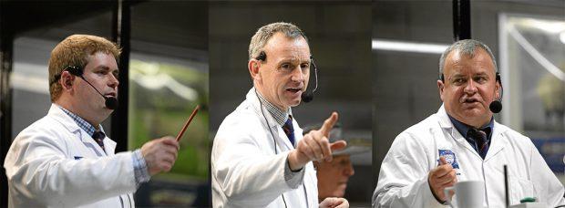 Tim McDonald, John Angus and Colin Slessor.