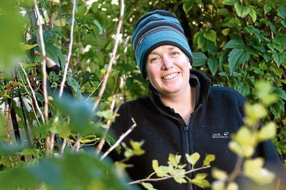 Kirsty Reid who runs the Teeny Weeny Farm in Dyke near Forres