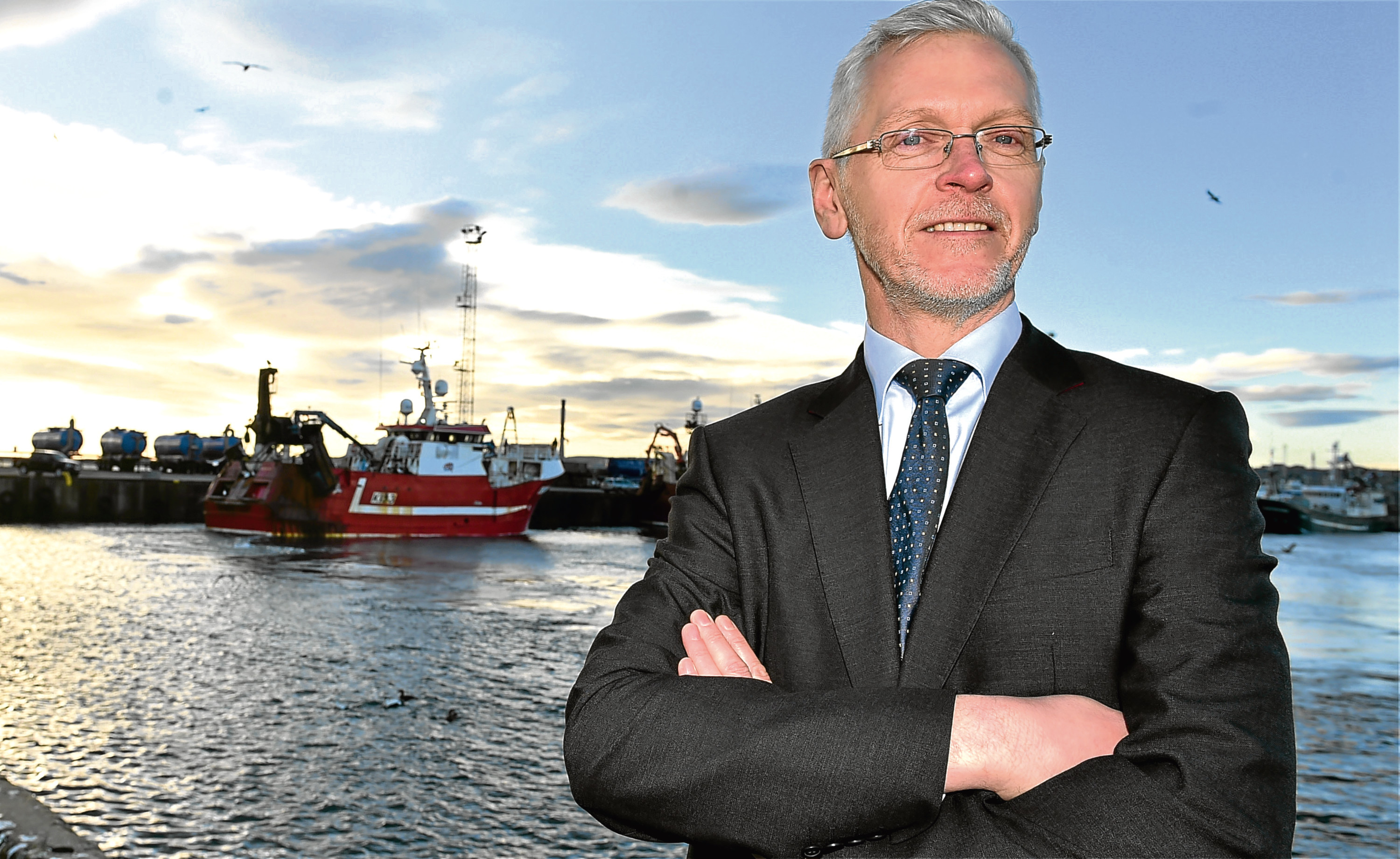 Ian Laidlaw, pictured at the harbour.
