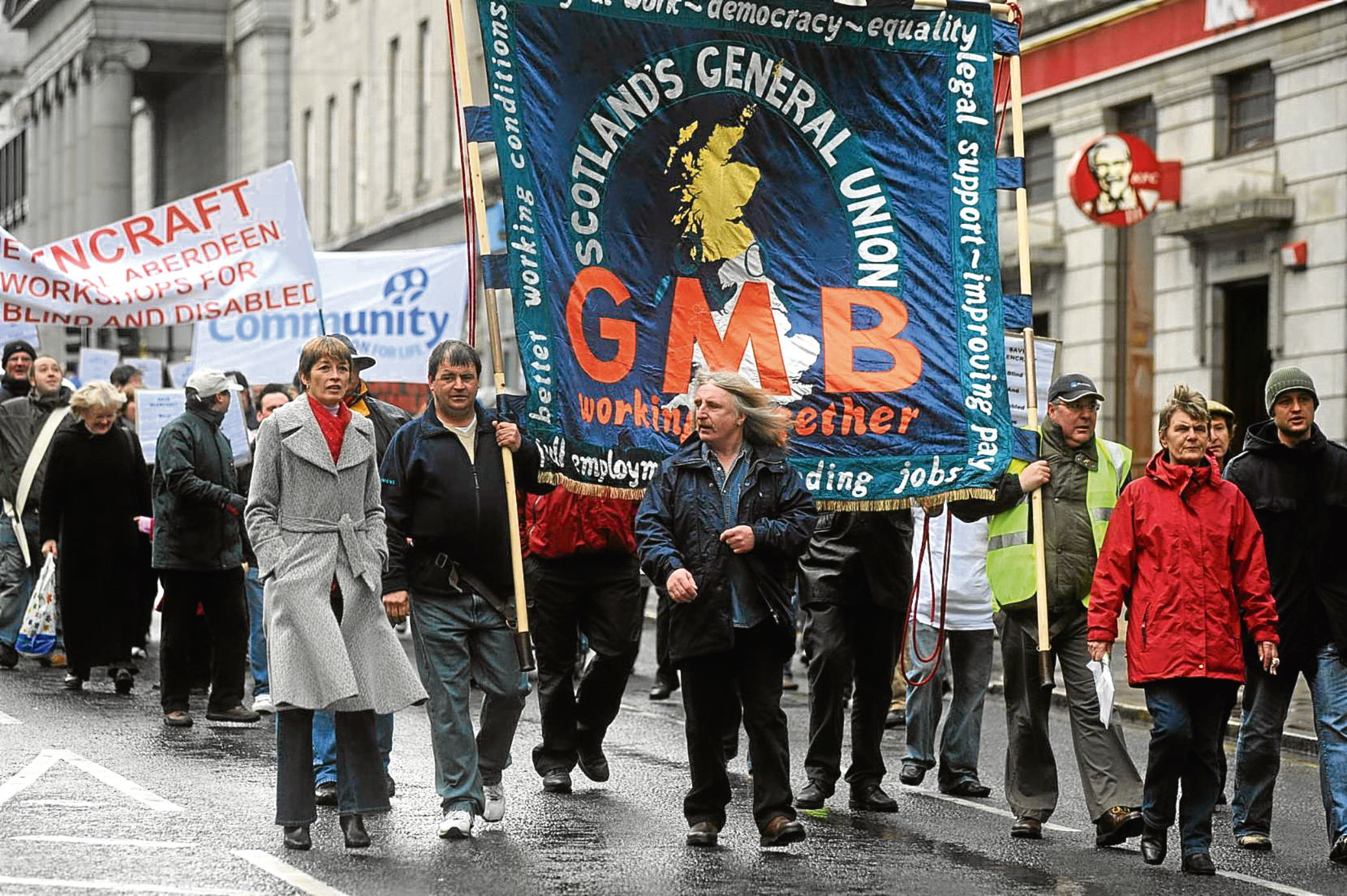Protesters took to Aberdeen streets in 2008 when the city council was on the brink of bankruptcy