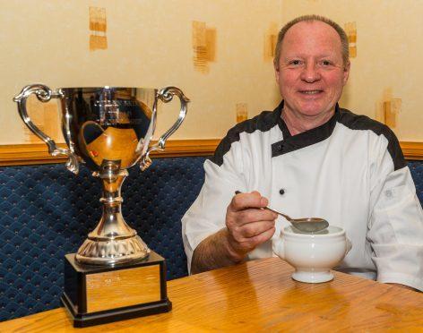 Ian Watson winner of the traditional Cullen Skink award