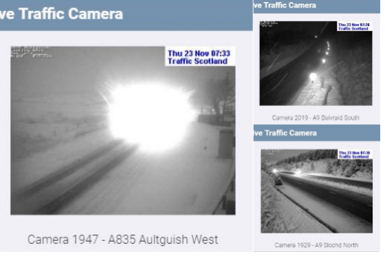 Traffic Scotland tweeted the image from their cameras this morning