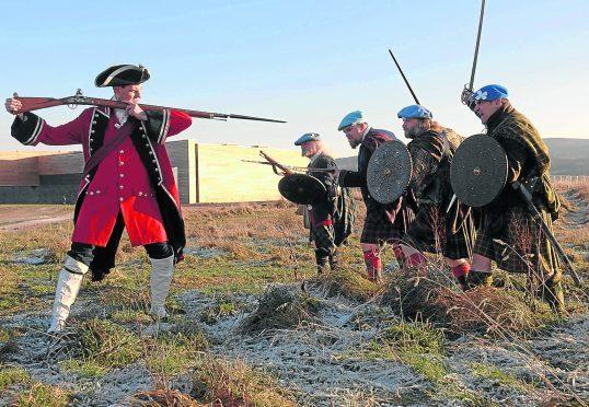 Culloden battlefield reenactment.