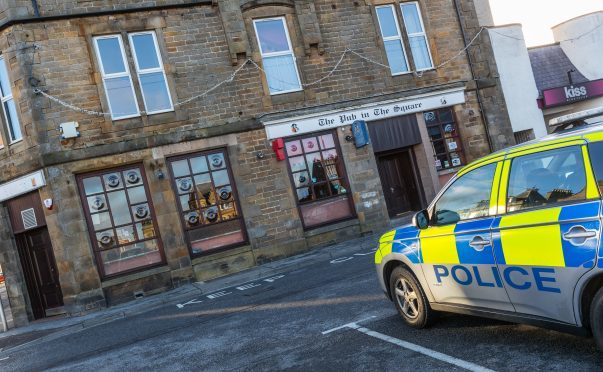 Police sealed off the pub following the incident