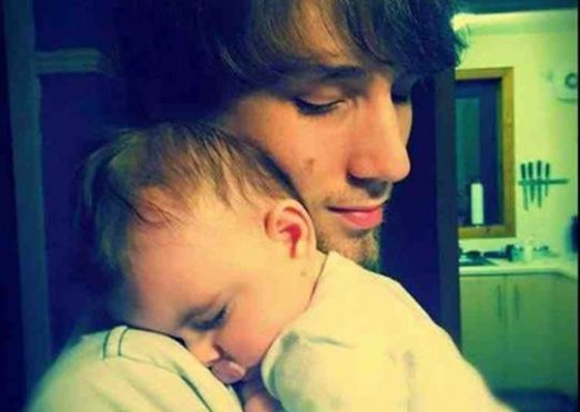 Dameon MacPhee with his son.