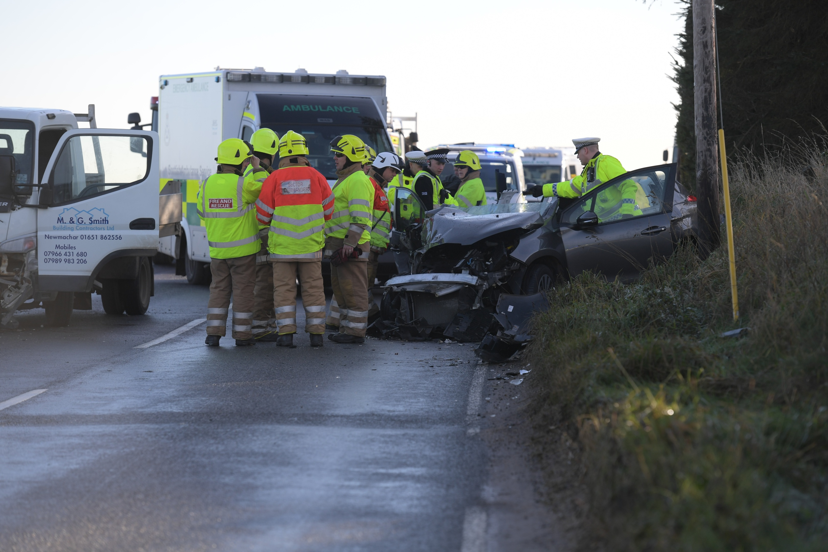 The crash at Potterton.