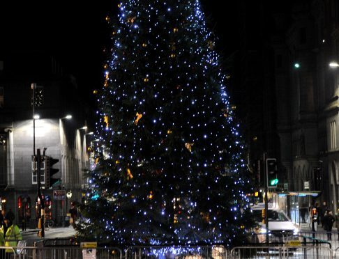 Last year's Aberdeen Christmas Tree Light Switch-On event
